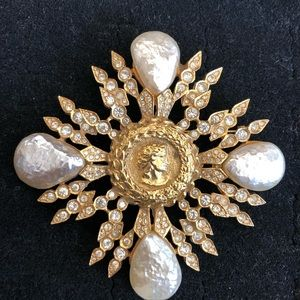 B&W brooch, Butler and Wilson of England